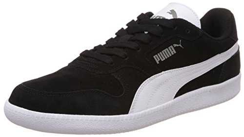 Puma, Icra Trainer Sd, Sneaker, Unisex adulto, Nero (Black-White 16), 42.5 EU