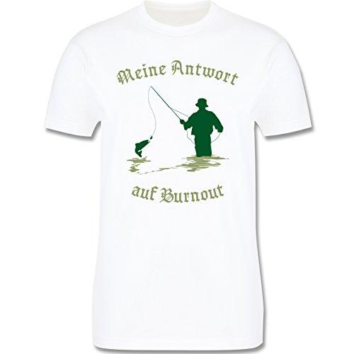 Angeln - Meine Antwort auf Burnout - Herren Premium T-Shirt Weiß