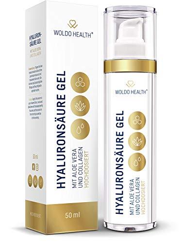 Hyaluronsäure Serum hochdosiert Anti Falten Creme - mit Aloe Vera und Collagen und zum Augenringe entfernen 50ml