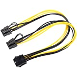 MagiDeal PCI-Express PCIE 8 Pin to Dual 8 (6+2) Pin Video Card Y-Splitter Adapter Power Supply Cable