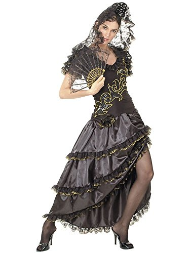 Lady Flamenco Kostüm Rumba (Rumba Lady Mercedes Kleid Kostüm S)