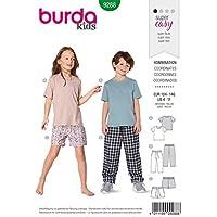Burda 9288 Patron de couture pour enfant Taille 104-146 Niveau 0 Super Easy