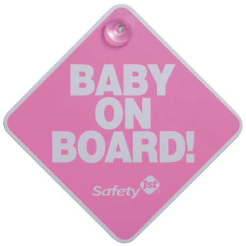 Safety 1St Baby On Board Sign, Pink
