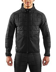Skins Jedeye Run Puffer Jacket Men Black/Black 2017 Laufjacke