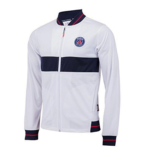 Paris Saint Germain PSG-Jacke, offizielle Kollektion, für Herren S weiß