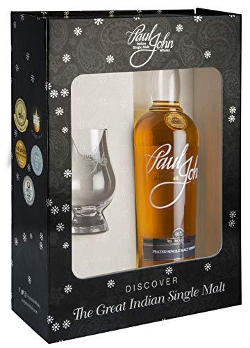 Paul John - Bold Single Malt & Glencairn Glass Gift Pack - Whisky