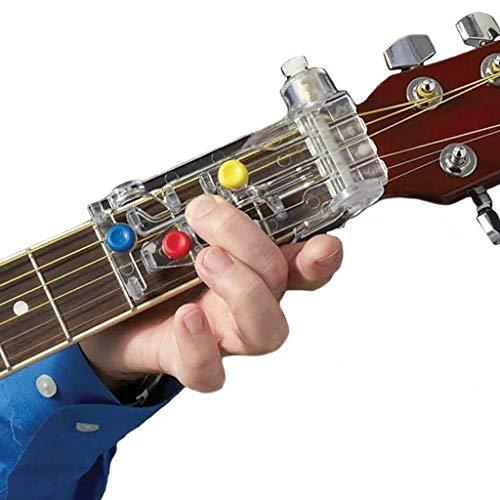 FENG Gitarrenhilfe klassische Gitarrenzubehör Gitarrenakkord Learning System Lehrmittel Gitarren-Lernwerkzeuge für Erwachsene oder Kinder Anfänger (Weiß)
