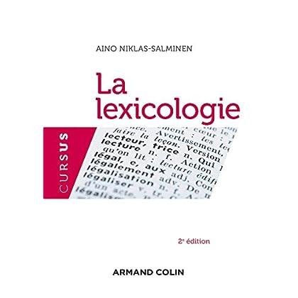 La lexicologie - 2e édition