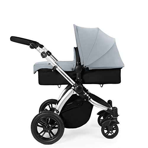 Ickle Bubba Stomp V2 All In One Baby Travel System – Lightweight Chasis Pram, Pushchair & Car Seat (Silver & Silver) 41jU9LG2f5L