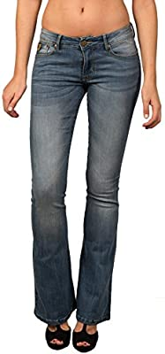 LOIS - Coty Flare Sandy, Mujer, Color Denim, Talla 27