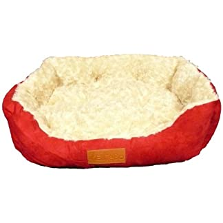Ellie-Bo Rectangular Dog Bed with Faux Suede Sides/ Non-slip Base/ Ultrasoft Lining 23-inch 14