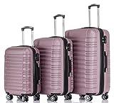 BEIBYE 2088 Zwillingsrollen Reisekoffer Koffer Trolleys Hartschale M-L-XL-Set in 13 Farben