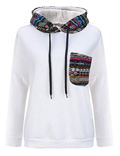 Nlife Frauen Mode Langarm Seitennetz Fleece Dicke Hoodies Für Winter