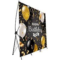 Photocall Flexible 100% Personalizado Feliz cumpleaños Talla XXL con Soporte X | 160x200 | Expositor Publicitario | Desmontable