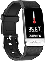 Eastdall Thermometer,Smart Bracelet Thermometer Body Temperature Measurement Health Sleep Monitor Blood Pressu