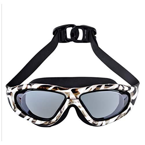 KAILLEET YY6 Erwachsene gedruckte Schwimmen-Schutzbrillen Galvanisiert wasserdicht und Anti-Nebel Schwimmbrille Leopard-Druck HD Schwimmen-Schutzbrillen (Farbe : 03)