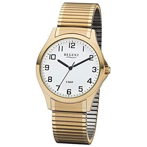 Regent 11300028 Herrenuhr, Zugband, Gold
