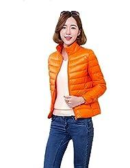 Hisea–Super ligero plegable con cremallera Puffer abajo chaqueta Outwear Coat
