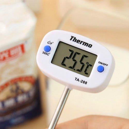 C/F Thermometer Temp Meter Kitchen Lab Food Long Sensor Probe Digital lcd