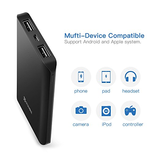Coolreall-PowerBank-Carica-batteria-Portatile-6000mAh-Batteria-Esterna-2-Porte-USB-per-Smartphone-and-Tablets-Nero
