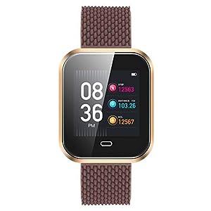 Ears Fitness Armband mit Pulsmesser Herzfrequenz-Aktivität Schrittzähler Kalorierung Smart Armband für Kinder Frauen Männer Smartwatch Fitness Uhr Intelligente Fitness Tracker Sport Uhr