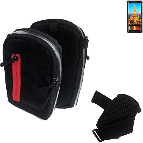 K-S-Trade Outdoor Gürteltasche Umhängetasche für Energizer H590S schwarz Handytasche Case travelbag Schutzhülle Handyhülle