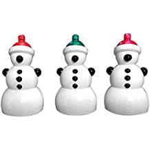 Fancy Interio 3x Snowman Hanging Ornaments (8 cm Polyester, Multicolor, Pack of 3)