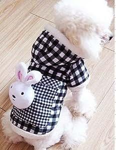 Vêtement/Manteau/Pull à capuche tête lapin XXL pour chien