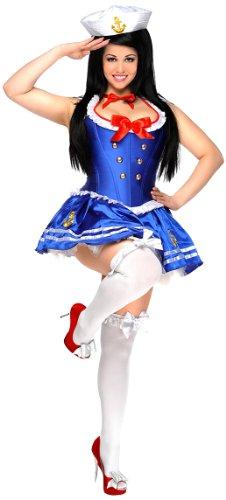 Womens Plus Size Sailor Corset Fancy dress costume (Dress Size Sailor Fancy Plus)