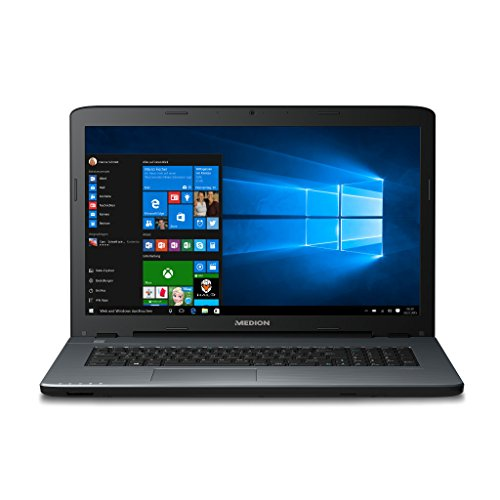 Medion Akoya MD 60091 43.9 cm (17.3 Inches) Notebook (Intel Core i5-6200U, 8 GB RAM, 256 GB SSD, NVIDIA GeForce 930M (2 GB GDDR3), BT, USB 3.0, WLAN, DVD-Brenner, Windows 10) - Silver