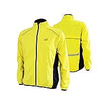 Fancybox Eeda Cycling Riding Jersey Men Breathable Jacket Cycle Clothing Bike Long Sleeve Wind Coat (Yellow, XL)