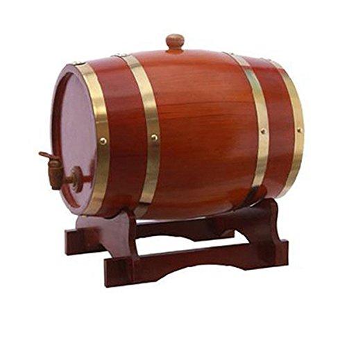 Dream Holz 1,5l Eichenfass Holzfass für Speicher oder Alterung Wein & Spirituosen Wein Barrels Wein Halter Chocolate Color