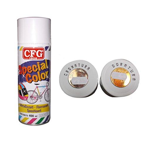 CFG-Spray 400ml Nagellack Acryl Milleusi Schnelle Trocknung Farbe SPECCHIANTE Vergoldung
