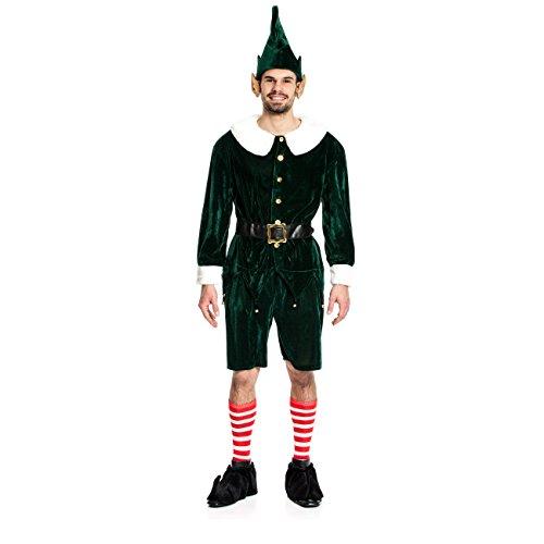 n-Kostüm Herren Gnom Zwergen-Kostüm Nikolaus Größe 60/62 (Mann Elfe Kostüm)
