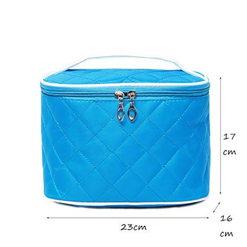 CLOTHES- Pacchetto pratico di immagazzinaggio cosmetico pratico impermeabile pieghevole portatile di immagazzinaggio Handmade del sacchetto cosmetico ( Colore : Rose red ) Blu