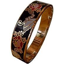 Bracelet Haute Qualité émail cloisonné. Jolies Couleurs et Motifs Actuels. 0accfe67ead