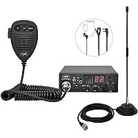 PNI Pack Radio Escort HP 8001L ASQ, 4W, 12V, 40 canaux + Antenne CB Extra 40 avec Aimant Inclus, Longueur 45 cm, 30W