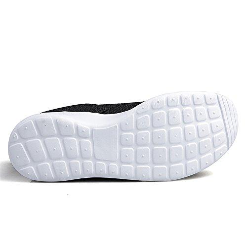 BRKVALIT Uomo Scarpe da Corsa Sport Classica Stringata Sneaker Palestra Running Sneaker Nero