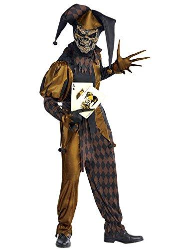 Magic Box Int. Kinder Halloween Jokers Wild Böse Jester Kostüm XL (12-14 years)