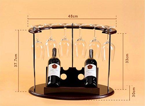 QXWL Casier à vin moderne minimaliste porte-bouteilles de bois à l'envers vers le bas de la cave à vin de vin créative casier à vin décoration porte-verre de vin rouge/taille: 48 * 30 * 37.7 (CM)