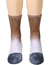 Fossen Unisex Adulto 3D Animal Pata Impresión Calcetines Para Hombre y Mujer