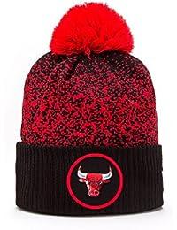 New Era Chicago Bulls NBA '17 Pom Beanie Chapeau, black/red