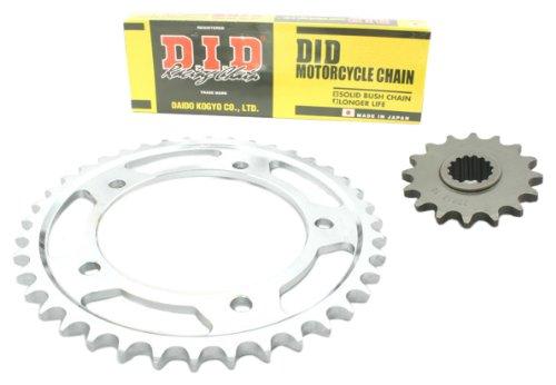 D.I.D - Set Standard (HD) on catena, corona e pignone per Honda CBR 125 R, anno di fabbricazione 2004-2010 (JC34/JC39)