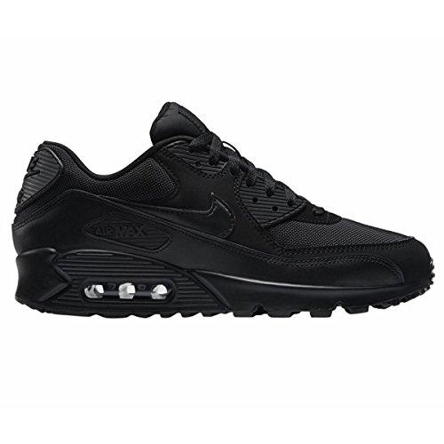 Nike Air Max 90 537384, Herren Sneakers Training, Schwarz (Schwarz 090), 42.5