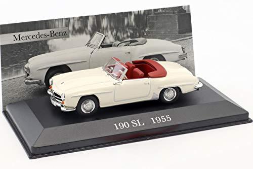 Ixo Mercedes Benz 190 SL (W121 B2) Baujahr 1955 Creme weiß 1:43 Altaya