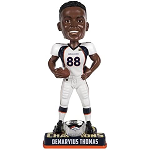 NFL Denver Broncos Demaryius Thomas #88 Super Bowl 50 Champions Bobble Head Toy, One Size, White by Forever Collectibles