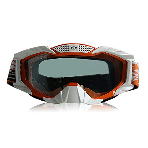 Adisaer Sport Brille Durchsichtig Mountainbike Schutzbrillen Motorrad Langlaufbrillen Warme Skibrillen Wind Und Staubschutzbrillen Transparent Orange White Damen Herren
