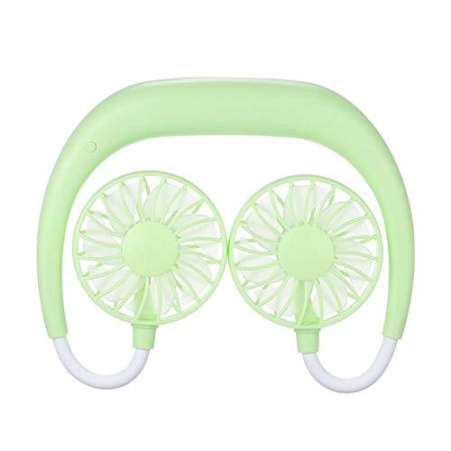 Womdee Freisprecheinrichtung Neckband Fan, Hand Free Persönlicher Fan, Kopfhörer Design tragbare tragbare USB aufladbare Neckband Mini Fan Hands Free-kopfhörer