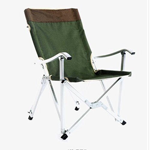 Multifonctionnel chaise pliante en plein air ultra léger portable en aluminium salon chaise loisirs fauteuil (Color : Green, Size : 87cm/34.3inch)