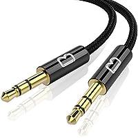 Beikell Cable de Audio Jack, Cable Audio 3.5mm Macho Macho Nylon Trenzado Cable Auxiliar Estéreo para Audio de Coche, Altavoz, Ordenador, Auriculares, iPhone, iPod, iPad, Echo Dot, MP3 y Más(1.2M)